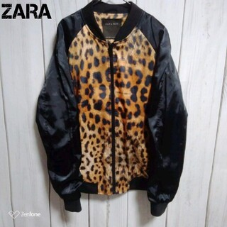 ZARA - ZARA MAN ブルゾン レオパード MA-1 ナイロン ジャケット