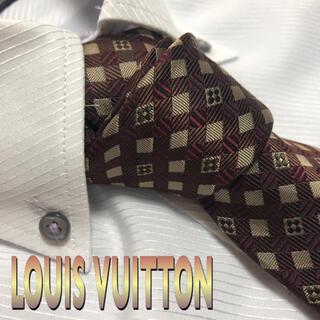 LOUIS VUITTON - ルイ・ヴィトン  ネクタイ【未使用に近い】モノグラム 光沢 厚手