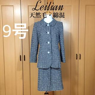 レリアン(leilian)の【一度使用】レリアン パール調薔薇ボタンが瑞々しい エレガントスーツ(スーツ)