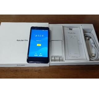 ラクテン(Rakuten)の楽天モバイル Rakuten Mini ブラック(スマートフォン本体)