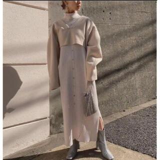 Ameri VINTAGE - AMERI アメリヴィンテージ LAYERED KNIT DRESS