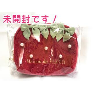 Maison de FLEUR - Maison de FLEUR イチゴティッシュケース 苺 いちご 赤 レッド