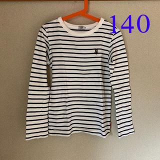 ダブルビー(DOUBLE.B)のボーダーカットソー 長袖 140(Tシャツ/カットソー)
