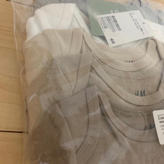 H&M(エイチアンドエム)のH&M ベビーロンパース 70サイズ 新品未使用タグ付き 5点セット キッズ/ベビー/マタニティのベビー服(~85cm)(ロンパース)の商品写真