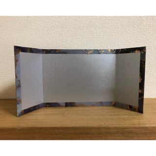ミニ銀屏風(ハンドメイド)3-31(雑貨)