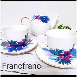 Francfranc - ティーセット(ポット×1 カップ&ソーサー×2)