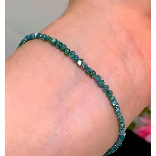 天然石 希少 ブルーダイヤモンドブレス(8カラット)♡✨ 最強の高次元パワー✨ ハンドメイドのアクセサリー(ブレスレット/バングル)の商品写真