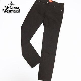 ヴィヴィアンウエストウッド(Vivienne Westwood)の【Vivienne Westwood】ORBボタン パッチ デニム ブラック(デニム/ジーンズ)