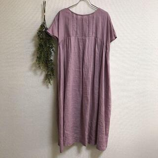 nest Robe - 定価9350円【BLISS BUNCH】くすみピンク/ワンピース/麻100%