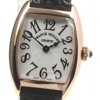 フランクミュラー(FRANCK MULLER)の☆美品 フランクミュラー K18PG トノーカーベックス レディース 【中古】(腕時計)