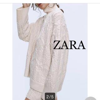 ZARA - ZARA ザラ ケーブル ハイネック  ニット