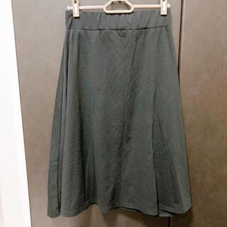 【Re:EDIT】ブラックスカート(ひざ丈スカート)