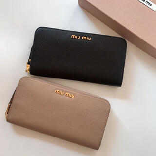 miumiu - miumiu 長財布 ブラック