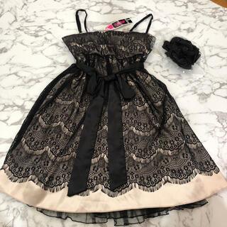 アナップ(ANAP)のANAP 結婚式 ドレス レース コサージュ 新品 タグ フォーマル  リボン (ミディアムドレス)