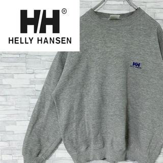 HELLY HANSEN - ヘリーハンセン スウェット シンプル ワンポイント刺繍ロゴ グレー L