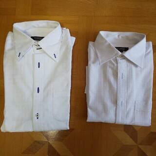 BURBERRY BLACK LABEL - BURBERRY BLACK LABEL 長袖シャツ 2枚 白 39 美品