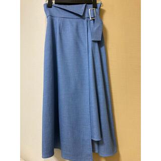 アナイ(ANAYI)の美品春夏♡ANAYIデニム調スカート・ブルー♡34サイズ(ロングスカート)