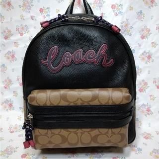 COACH - コーチ  レディース用 リュック バッグパック シグネチャー ブラック