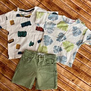 ザラ(ZARA)のZARA 半袖T&ハーフパンツ 3点セット(Tシャツ)