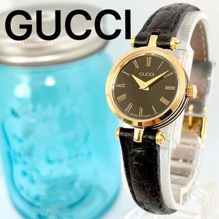 Gucci - 7 グッチ時計 レディース腕時計 新品電池 ブラック シェリーライン