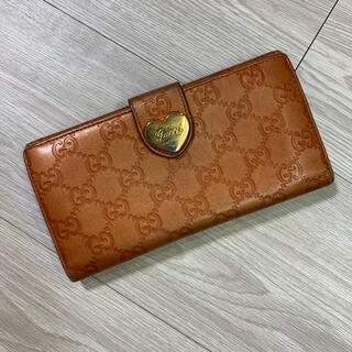 Gucci - GUCCI (グッチ) GG レザー ハート金具 長財布