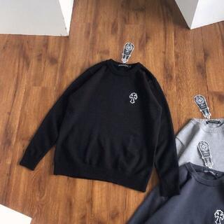 クロの心クロス刺繍セーター
