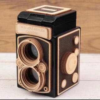 一眼レフレックスカメラ KALDI カルディ レフレックスカメラ 木箱 エウレカ(小物入れ)