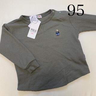 新品 バースデイ POLO ポロ ベア ワッフル Tシャツ  カーキ 95