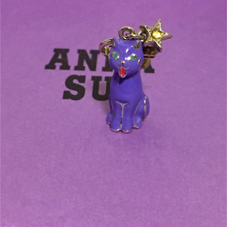ANNA SUI - ANNA SUI 猫 星 ねこモチーフ イヤリング シングル 未使用