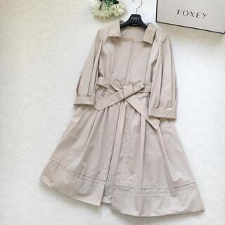 FOXEY - 【美品】FOXEY フォクシー スタイルアップ ベルト 洗える コート