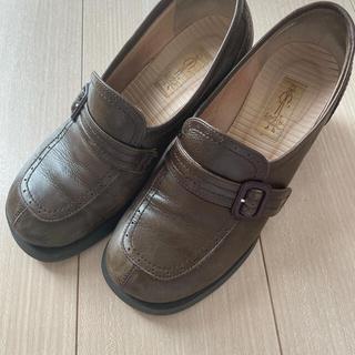 アシナガオジサン(あしながおじさん)のあしながおじさん ローファーヒール 革靴 ブラウン(ローファー/革靴)