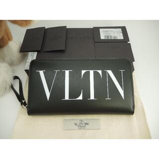 valentino garavani - ヴァレンチノ ロングウォレット VLTN レザー黒 ジップ長財布 新品@ 5