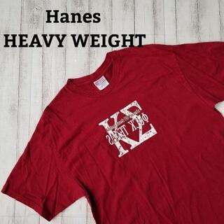 ヘインズ(Hanes)の□Hanes tシャツ l 深紅 ビッグプリント tee 半袖 古着 usa(Tシャツ/カットソー(半袖/袖なし))