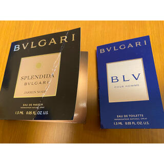 ブルガリ(BVLGARI)のブルガリ香水サンプル2点セット(サンプル/トライアルキット)