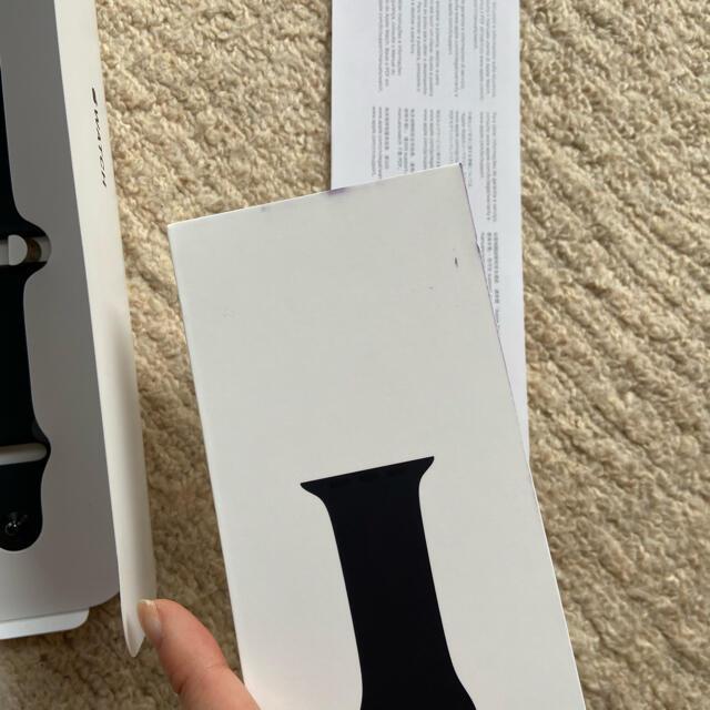 Apple Watch(アップルウォッチ)のアップルウォッチバンド blacksportsband 純正 メンズの時計(ラバーベルト)の商品写真
