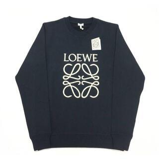LOEWE - 新品 LOEWE アナグラム ロゴ 刺しゅう スウェット シャツ ネイビー