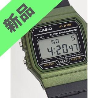 カシオ(CASIO)の【海外版】カシオ CASIO 腕時計 F-91WM-3A オリーブ OD カーキ(腕時計(デジタル))