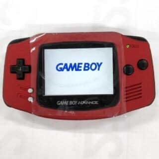 ゲームボーイアドバンス(ゲームボーイアドバンス)のゲームボーイアドバンス本体 スカーレット バックライト IPS液晶V2(携帯用ゲーム機本体)