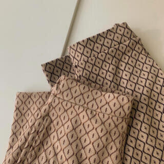 amiur Jacquard knit pants ベージュ