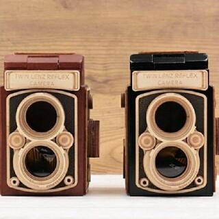 KALDI   レフレックス カメラ 木箱チョコ 二色セット(菓子/デザート)