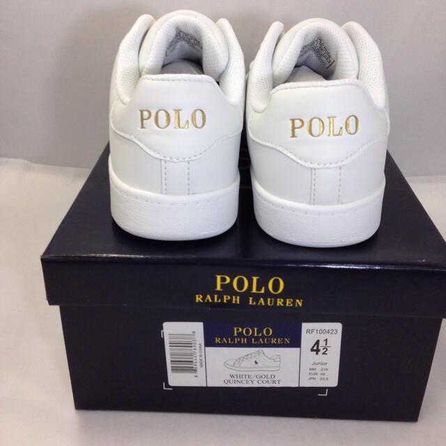 POLO RALPH LAUREN(ポロラルフローレン)のポロ ラルフローレンシンセティックレザー スニーカー 新品未使用品 23.5㎝ レディースの靴/シューズ(スニーカー)の商品写真
