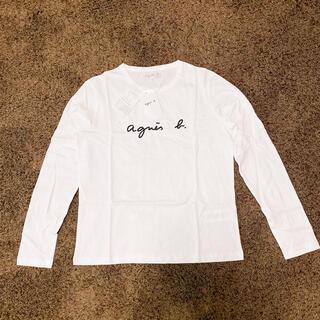agnes b. - レディース agnes b. アニエスベー 長袖ロゴTシャツ サイズ2(M) 白