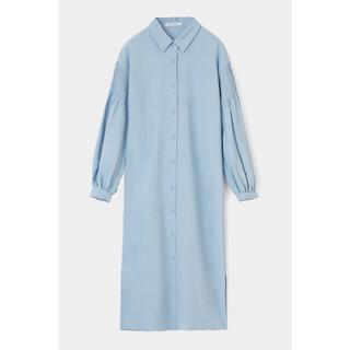 moussy - moussy ボリュームスリーブロングシャツドレス