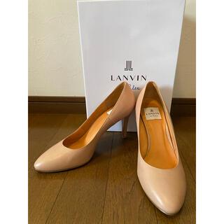 LANVIN en Bleu - LANVIN en Blue ピンクベージュ色 パンプス 23.5cm ランバン