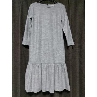 エムプルミエ(M-premier)のM-premier BLACK エムプルミエ 裾フリル ワンピース 36(ひざ丈ワンピース)