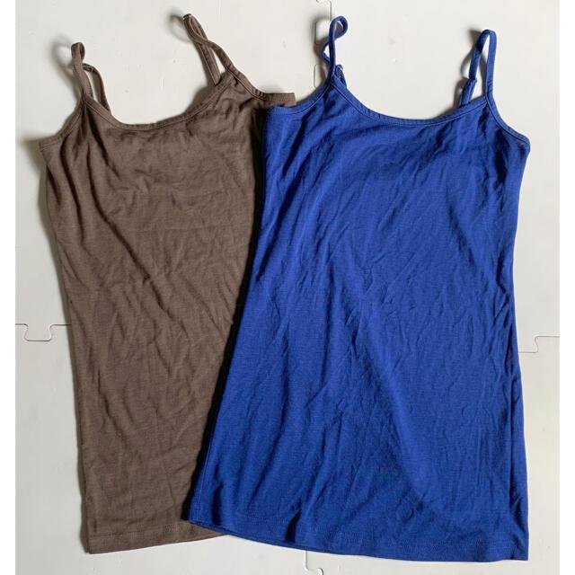 ヒート系キャミソール 2点 レディースの下着/アンダーウェア(アンダーシャツ/防寒インナー)の商品写真