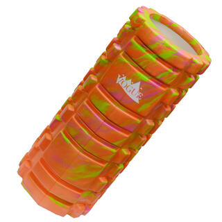 マーブルオレンジ フォームローラー 筋膜リリース ヨガ エクササイズ(ヨガ)