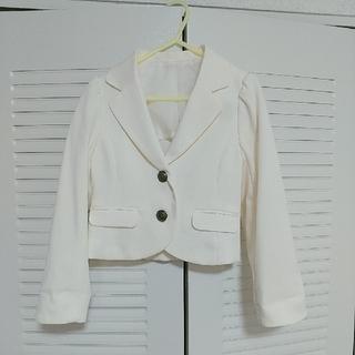GU - フォーマル ジャケット 白 120cm 女の子
