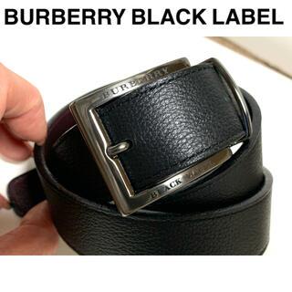 BURBERRY BLACK LABEL - 【used】バーバリー/BURBERRY  ベルト メンズ ブラック