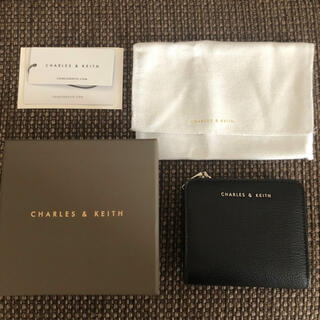 Charles and Keith - Charles & Keith チャールズアンドキース 折り財布 黒